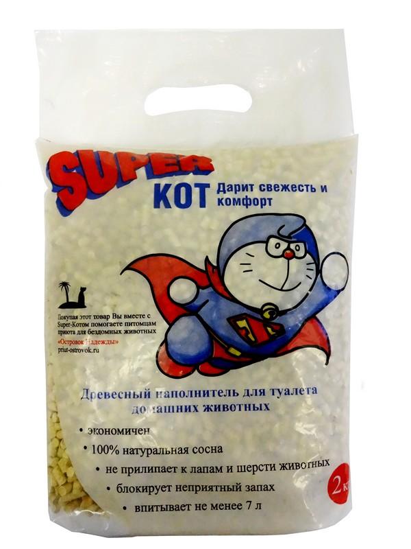 «Super-Кот» — древесный наполнитель для туалета домашних животных